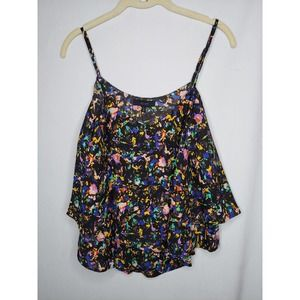 Eclair MultiColored Layered Tank Size XL